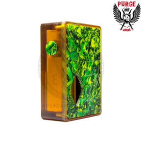 PURGEPURGE MODS ULTEM & RESIN GREEN SQUONKER BOX MOD