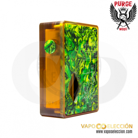 PURGE MODS ULTEM & RESIN GREEN SQUONKER BOX MOD