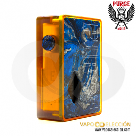 PURGE MODS ULTEM & RESIN BLUE SQUONKER BOX MOD
