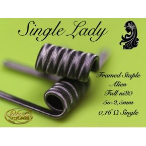 RESISTENCIAS SINGLE LADY STAPLE FULL NI80 0.16 | LADY COILS