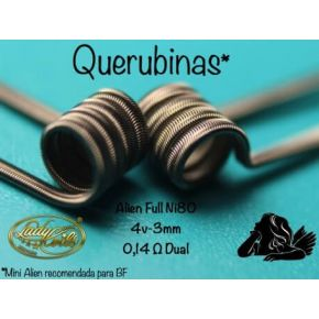 RESISTENCIAS QUERUBINAS MINI ALIEN FULL NI80 0.14/0.28 | LADY COILS
