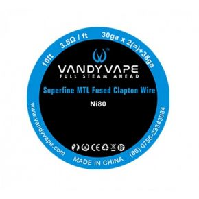 HILO SUPERFINE MTL CLAPTON NI80 0.25MM/30GA + 0.10MM/38GA 3M | VANDY VAPE