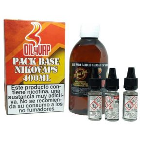 PACK BASE + NICOVAPS OIL4VAP 3MG 20PG/80VG 500 ML TPD