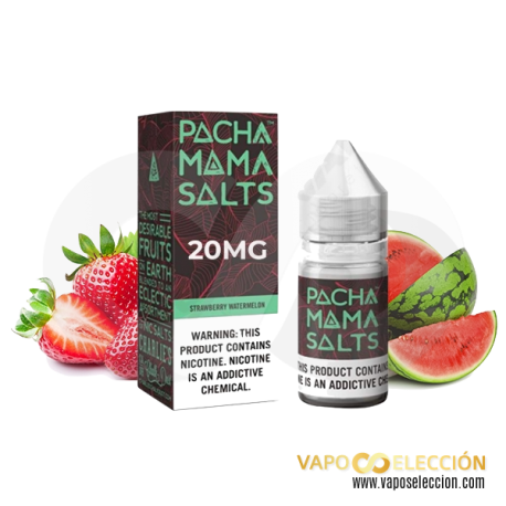 SALT PACHAMAMA STRAWBERRY WATERMELON 20MG 10ML TPD | CHARLIES DUST