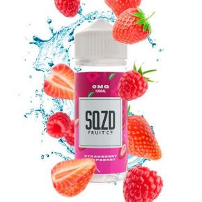 LIQUIDO STRAWBERRY RASPBERRY 100ML 0MG | SQZD FRUIT CO.