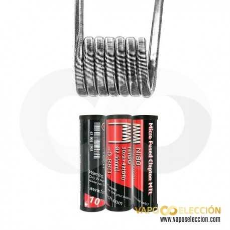 COIL MICRO FUSED CLAPTON MTL 10PCS   FUMYTECH
