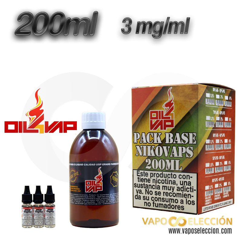 BASE OIL4VAP 0MG 20PG/80VG 200 ML TPD
