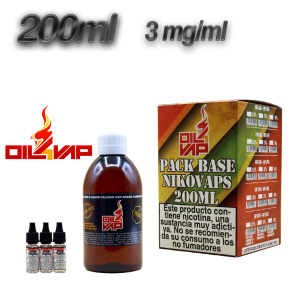 BASE OIL4VAP 3MG 50PG/50VG 200 ML TPD