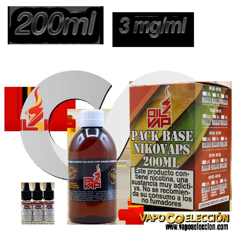 BASE OIL4VAP 3MG 50PG/50VG 200 ML TPD