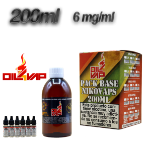 BASE OIL4VAP 6MG 50PG/50VG 200 ML TPD