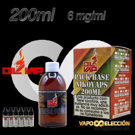 BASE OIL4VAP 6MG 50PG/50VG 200 ML TPD