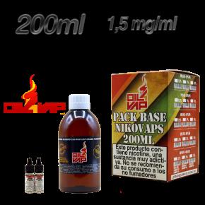 BASE PACK + NIKOVAPS OIL4VAP 1.5MG 50PG/50VG 200ML TPD