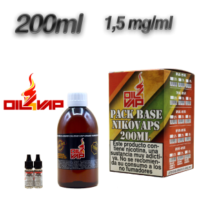 PACK BASE + NIKOVAPS OIL4VAP 1,5MG 50PG/50VG 200 ML TPD
