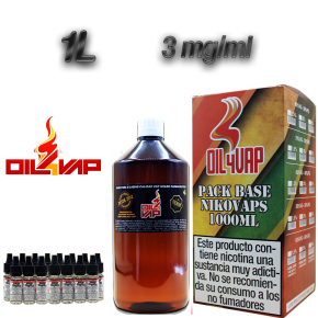 PACK BASE + NIKOVAPS 1000ML OIL4VAP 3MG 20PG/80VG TPD