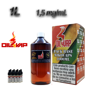 PACK BASE + NIKOVAPS 500 ML OIL4VAP 1,5MG 50PG/50VG TPD