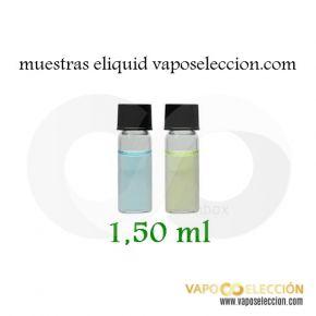 Muestras 1,50 ml Tubo Vidrio eLiquid