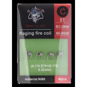 RAGING FIRE COIL NI80 C 0.32OHM PACK 4UDS | DEMON KILLER