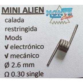 RESISTENCIA MINI ALIEN 3MM 0.30OHM SINGLE | MONTECOIL