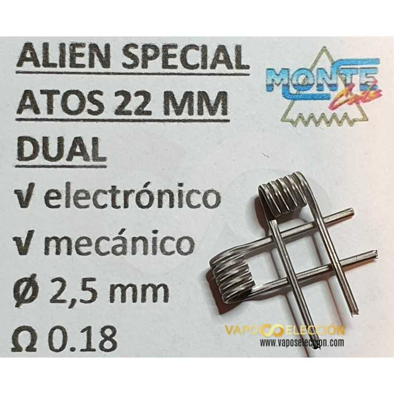COILS MINI ALIEN 2.5MM 0.18OHM DUAL | MONTECOIL