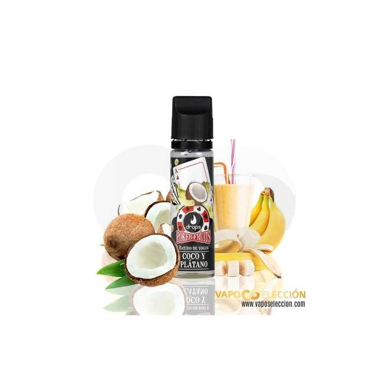 LIQUIDO BATIDO DE COCO PLATANO POKER FRUITS 50ML | DROPS