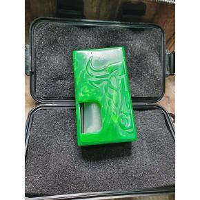 TMOD RIB RESIN PEARL 18650 + PULSADOR BRASS GREEN   TOROMOD
