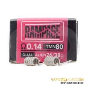 RESISTORS THE FORGE RAMPAGE 0.14 DUAL PACK 2PCS | CHARRO COILS