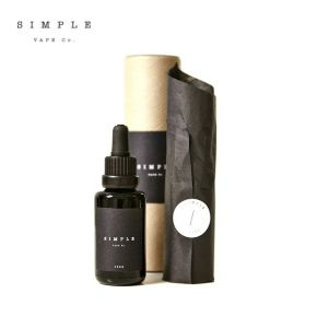 SIMPLE VAPE 50/50 COLLECTION THREE ENGLISH TOFFEE & BANANA ELIQUID 30ML