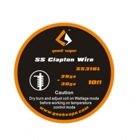 WIRE SS316L CLAPTON | GEEKVAPE | * NICOTINE FREE PRODUCT * |