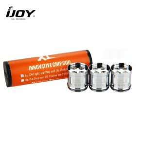 IJOY XL-C4 LIGHT-UP CHIP COIL PACK 3UDS.