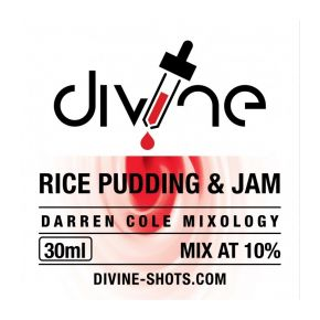 AROMA DIVINE RICE PUDDING & JAM 30ML | CHEFS FLAVOURS