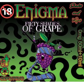 ENIGMA 50 SHADES OF GRAPE ELIQUID 50ML SHAKE & VAPE