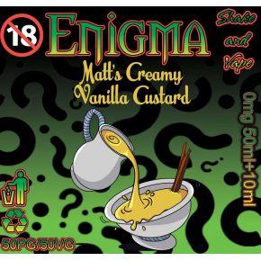 ENIGMA MATTS CREAMY VANILLA CUSTARD ELIQUID 50ML SHAKE & VAPE