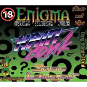 ENIGMA DOUBLE LEMON SPLIT ELIQUID 50ML SHAKE & VAPE