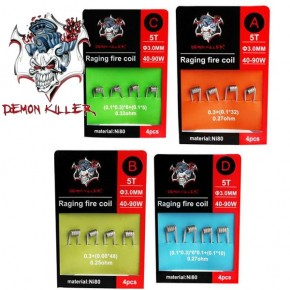RAGING FIRE COIL NI80 PACK 4 UDS | DEMON KILLER