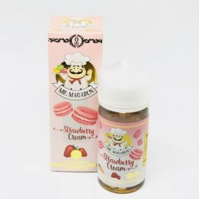 MR. MACARON STRAWBERRY CREAM by MAD HATTER EJUICE 100ML SHAKE & VAPE