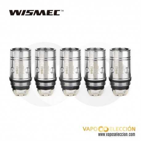 WISMEC WS04 TRIPLE COIL HEAD 1,3 OHMS. PACK 5 UDS.